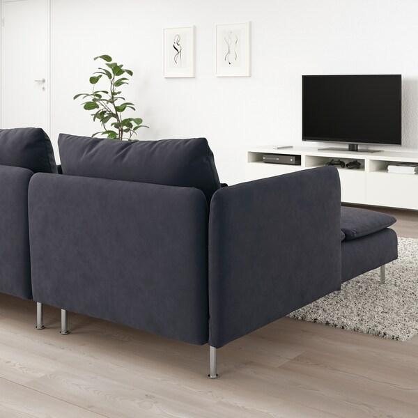 SÖDERHAMN 4-sitssoffa, med schäslong/Samsta mörkgrå
