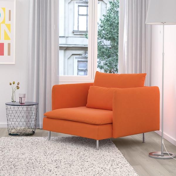 SÖDERHAMN fåtölj Samsta orange 105 cm 99 cm 83 cm 93 cm 48 cm 40 cm