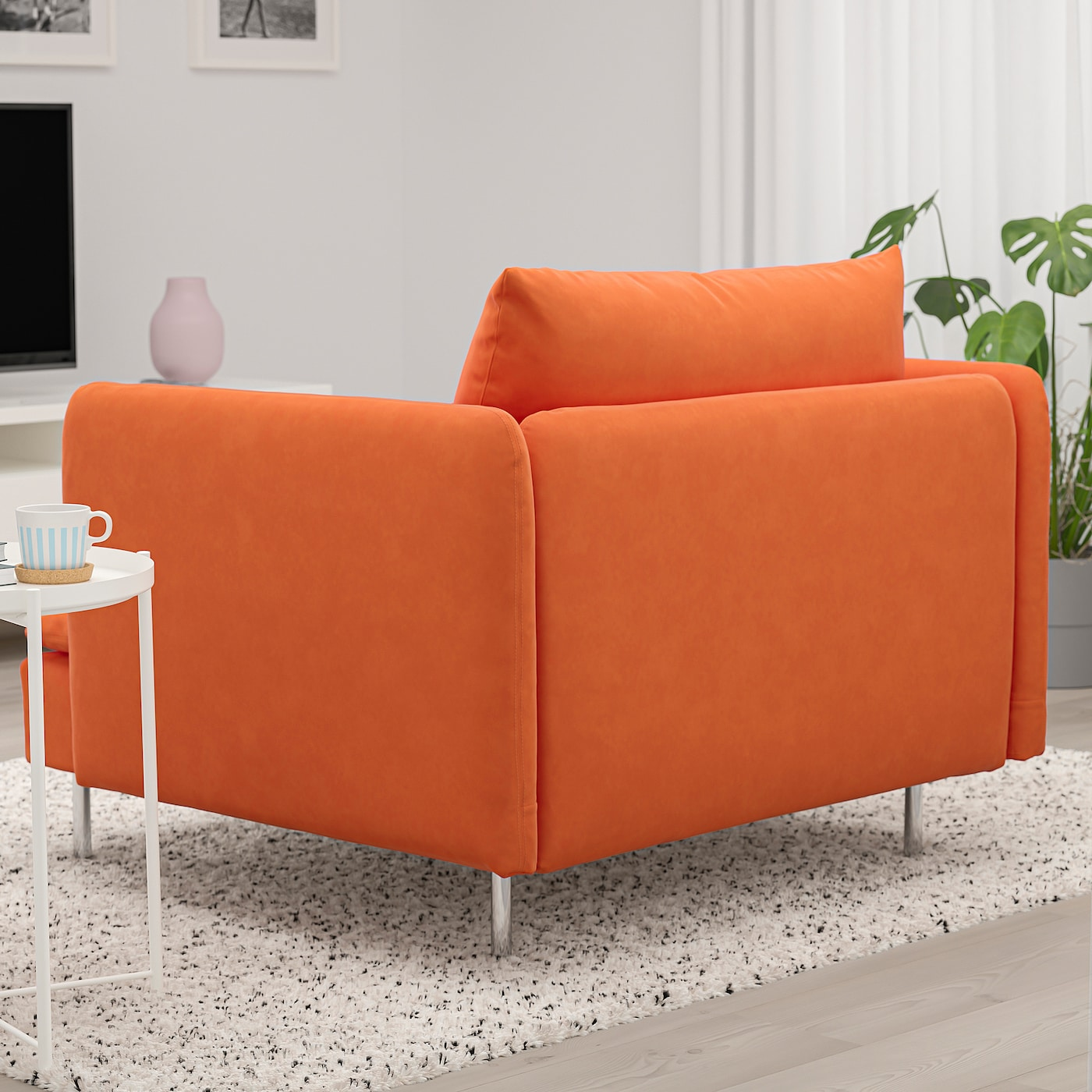 SÖDERHAMN Fåtölj Samsta orange