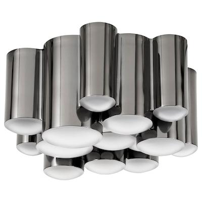 SÖDERSVIK LED plafond, svart/förkromad, 21 cm