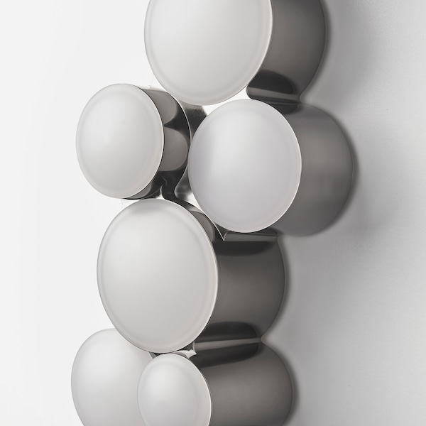 SÖDERSVIK LED vägglampa dimbar/svart förkromad 320 lumen 70 cm 10 cm 7 cm 8.5 W