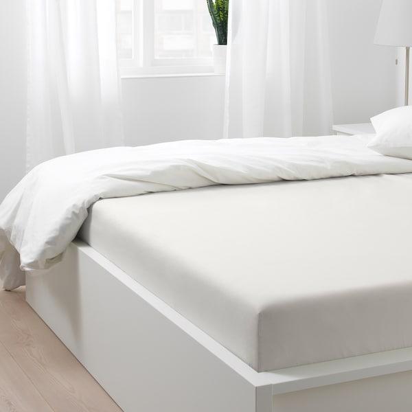 SÖMNTUTA Dra-på-lakan, vit, 180x200 cm