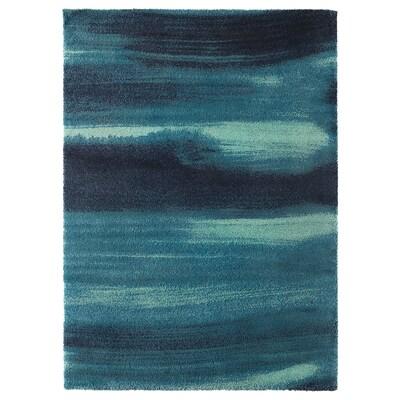 SÖNDERÖD Matta, lång lugg, blå, 170x240 cm