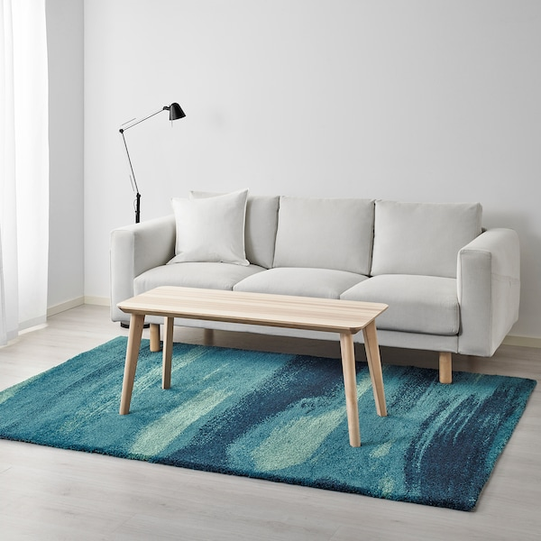 SÖNDERÖD matta, lång lugg blå 240 cm 170 cm 18 mm 4.08 m² 2900 g/m² 1500 g/m² 14 mm 17 mm