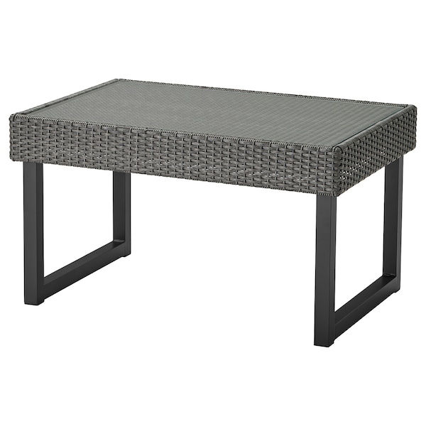 SOLLERÖN Soffbord, utomhus, antracit/mörkgrå, 92x62 cm