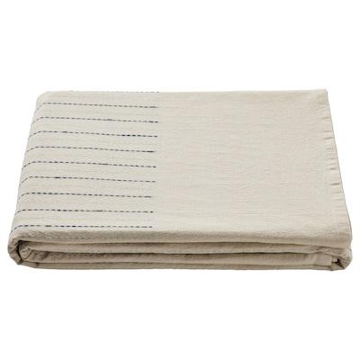 SOMMARDRÖM Duk, beige/blå, 145x240 cm