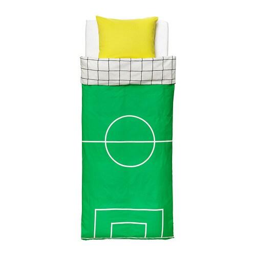 SPELPLAN Påslakan 1 örngott IKEA Bomull är mjukt och skönt mot ditt barns hud.