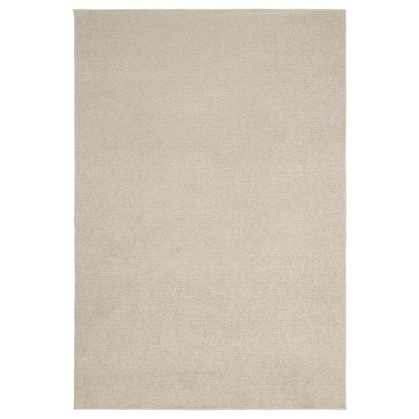 SPORUP Matta, kort lugg, ljusbeige, 133x195 cm