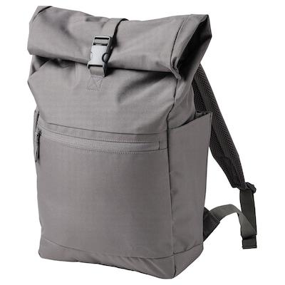 STARTTID Ryggsäck, grå, 27x11x56 cm/18 l