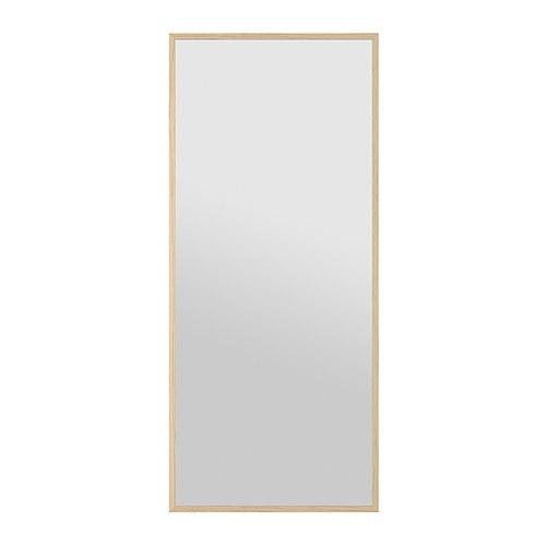 Stave spegel vitlaserad ekeffekt 70x160 cm ikea for Specchio 40x160