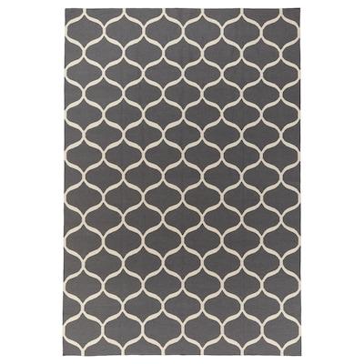 STOCKHOLM 2017 Matta, slätvävd, handgjord/grå, 250x350 cm