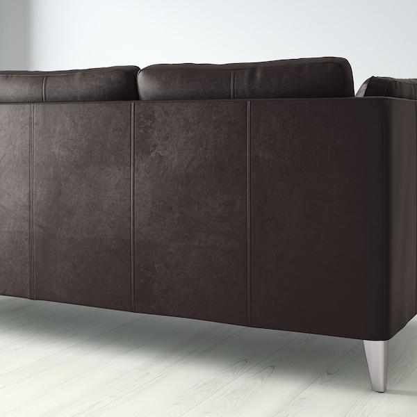 STOCKHOLM 3-sits soffa, Seglora mörkbrun