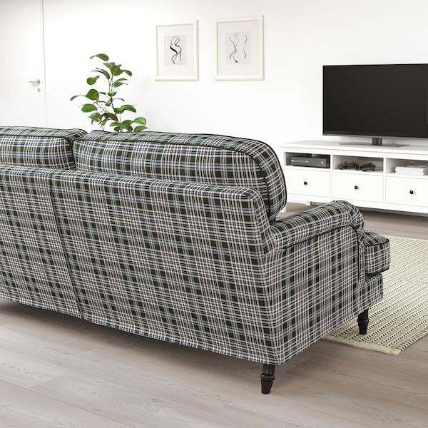 STOCKSUND 3-sitssoffa Segersta flerfärgad/svart/trä 84 cm 73 cm 199 cm 97 cm 13 cm 167 cm 58 cm 46 cm