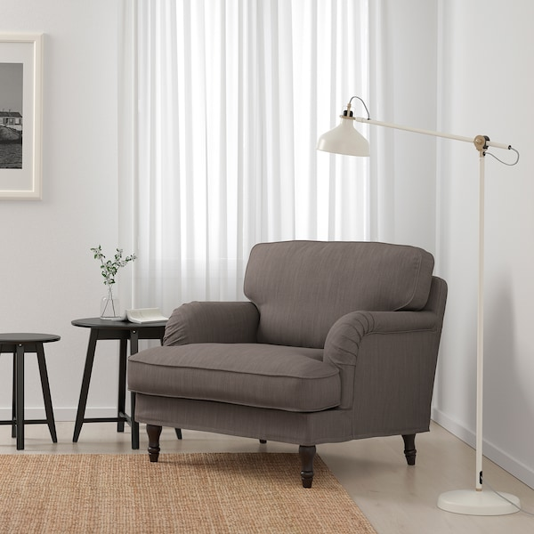STOCKSUND Fåtölj, Nolhaga gråbeige Beställ idag IKEA