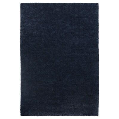 STOENSE Matta, kort lugg, mörkblå, 133x195 cm