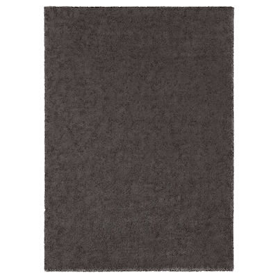 STOENSE Matta, kort lugg, mörkgrå, 170x240 cm