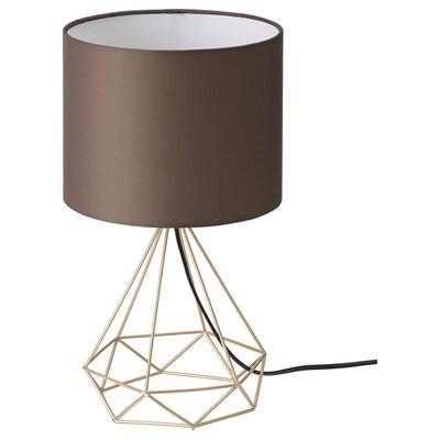 STOFTFRI Bordslampa, förmässingad/brun, 40 cm