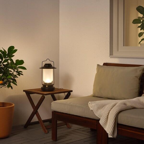 STORHAGA LED bordslampa, dimbar utomhus, svart, 35 cm IKEA