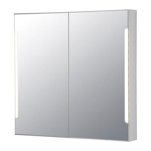 STORJORM Spegelskåp 2 dörr inbyggd belysning IKEA