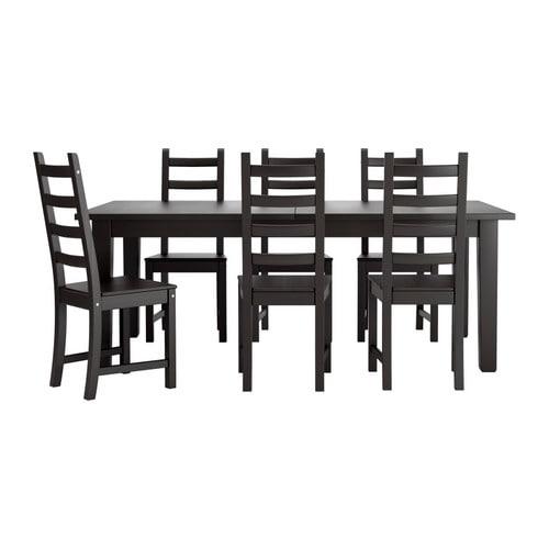 storn s kaustby bord och 6 stolar ikea. Black Bedroom Furniture Sets. Home Design Ideas
