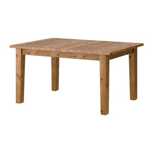 STORNÄS Utdragbart bord , antikbets Längd: 147 cm Max. längd: 204 cm Bredd: 95 cm Höjd: 74 cm