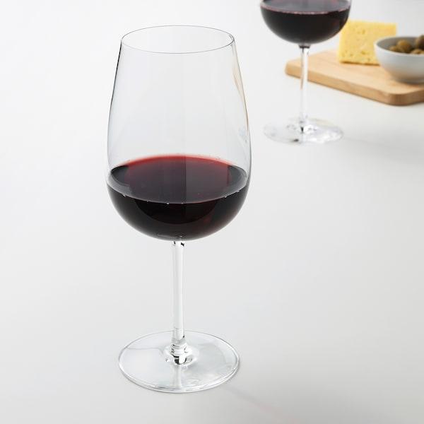 STORSINT rödvinsglas klarglas 21.5 cm 68 cl 6 styck