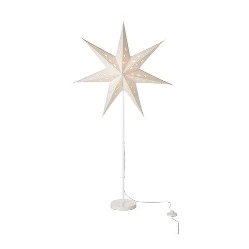 STRÅLA Golvlampa, vit stjärna Diameter: 70 cm Höjd: 120 cm Sladdlängd: 5.0 m