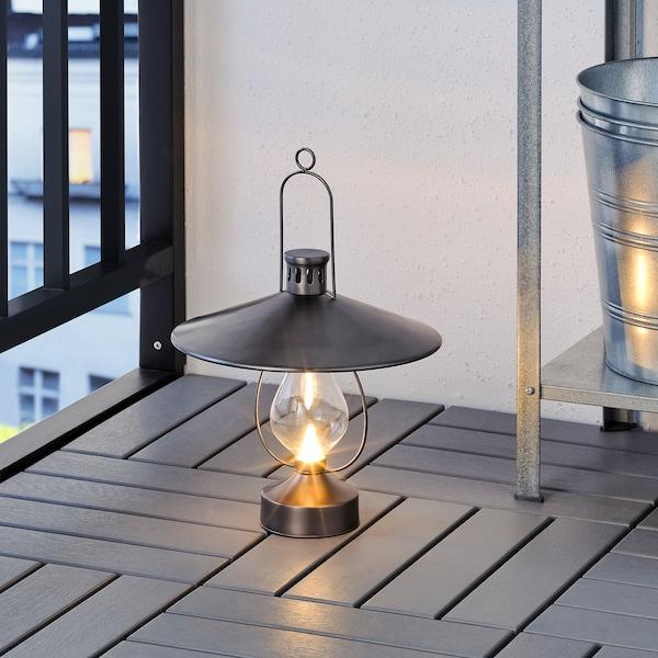 STRÅLA LED lykta, batteridriven/utomhus svart