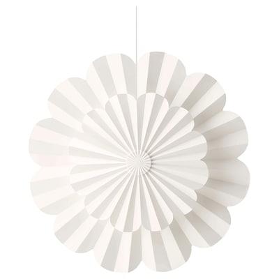 STRÅLA LED taklampa, batteridriven/blomma, 35 cm