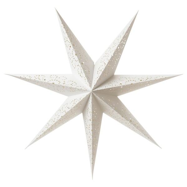 STRÅLA Taklampskärm, spets vit, 100 cm