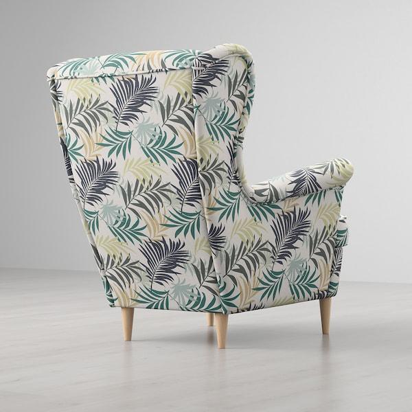 STRANDMON Öronlappsfåtölj, Gillhov flerfärgad IKEA