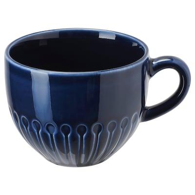 STRIMMIG Mugg, stengods blå, 36 cl
