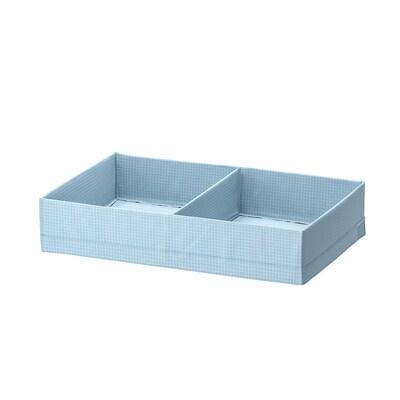 STUK Låda med fack, blågrå, 34x51x10 cm