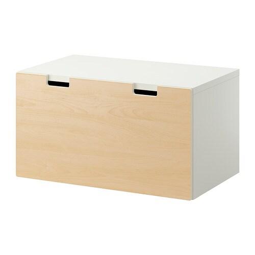 STUVA Bänk med förvaring vit björk IKEA