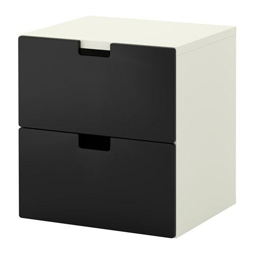 Stuva byr med 2 l dor svart ikea for Ikea scatole plastica
