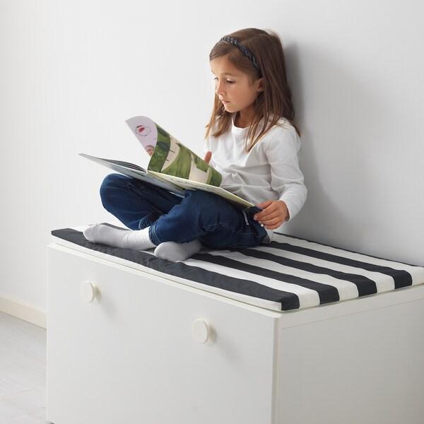 STUVA / FÖLJA bänk med förvaring vit 90 cm 50 cm 50 cm