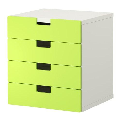STUVA Förvaring med lådor vit grön IKEA