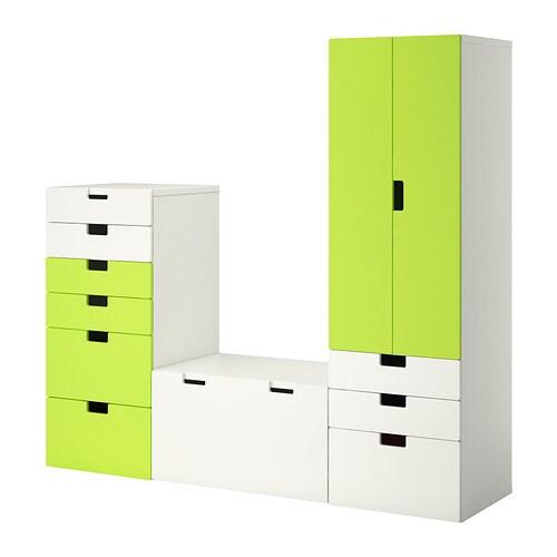 STUVA Förvaringskombination vit grön IKEA