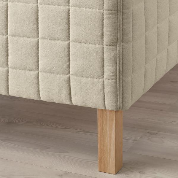 STUVLAND Resårbotten, medium fast/natur, 120x200 cm