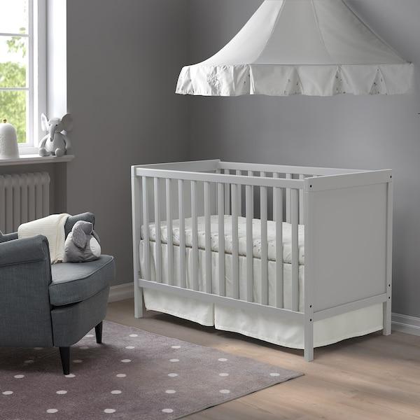 SUNDVIK Spjälsäng, grå, 60x120 cm
