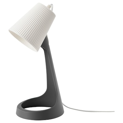 SVALLET Arbetslampa, mörkgrå/vit