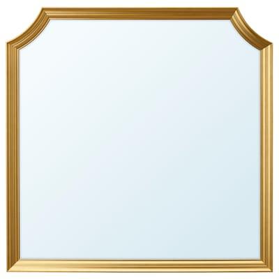 SVANSELE Spegel, guldfärgad, 78x78 cm