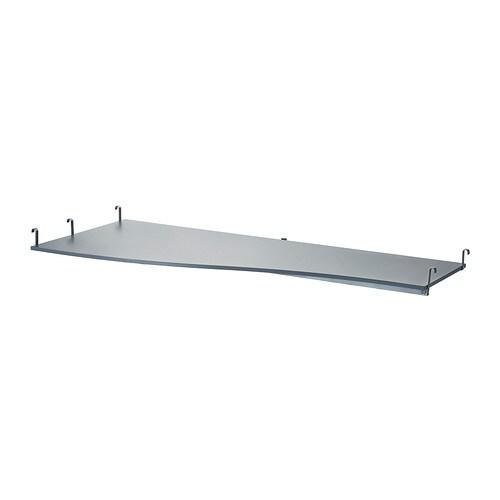 SVÄRTA Arbetsskiva , silverfärgad Djup: 88 cm Min. djup: 45 cm / 45 cm Bredd: 200 cm