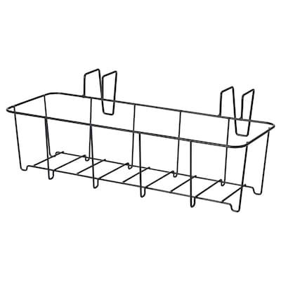SVARTPEPPAR Hållare för kruka, inom-/utomhus svart, 45x16 cm