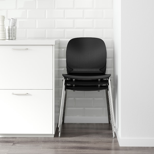 SVENBERTIL Stol, svart, Broringe svart IKEA