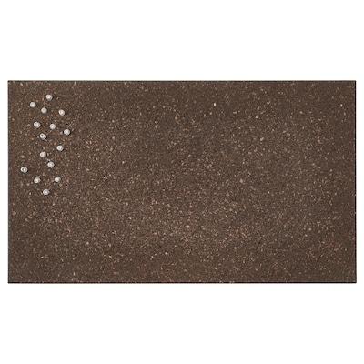 SVENSÅS Anslagstavla med nålar, kork mörkbrun, 35x60 cm