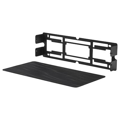 SYMFONISK väggfäste för bokhyllehögtalare svart 86 mm 37 mm 302 mm