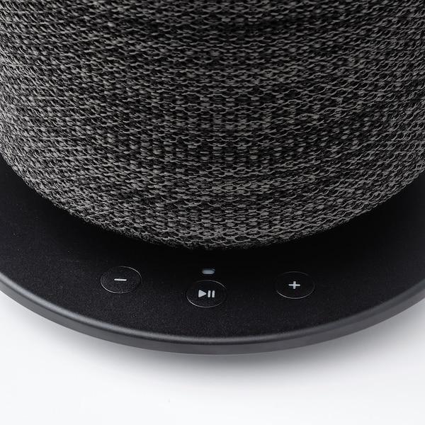 SYMFONISK Bordslampa med wifi-högtalare, svart