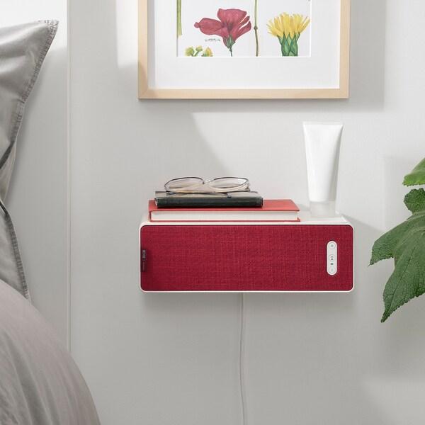SYMFONISK Front för bokhyllehögtalare, röd
