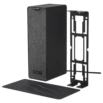 SYMFONISK / SYMFONISK Wifi-högtalare med väggfäste, svart, 31x10x15 cm